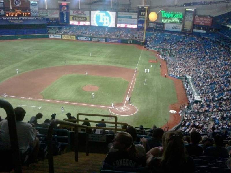 Seating view for Tropicana Field Section 305 Row T Seat 1