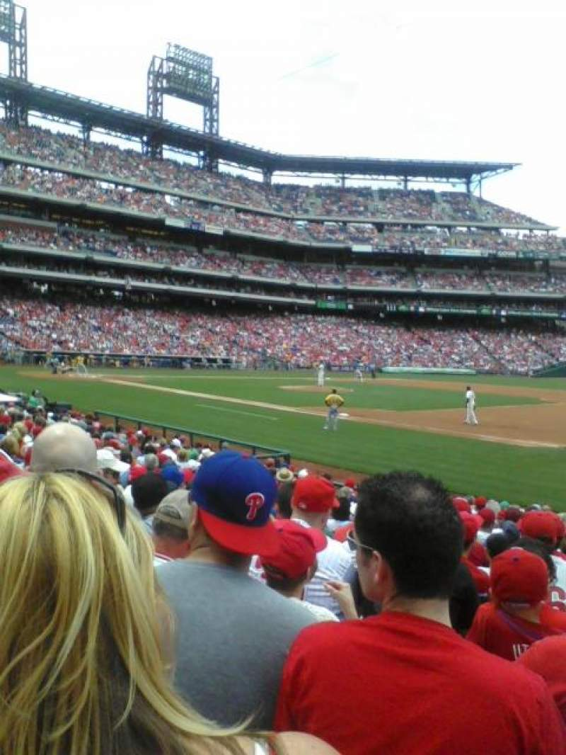 Seating view for Citizens Bank Park Section 113 Row 18 Seat 5