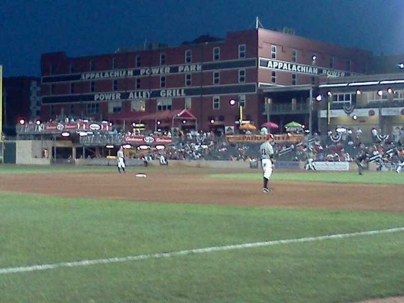 Seating view for Appalachian Power Park Section 102 Row A Seat 1