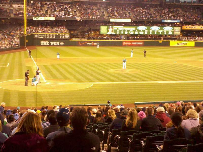 Seating view for Safeco Field Section 126 Row 29 Seat 3