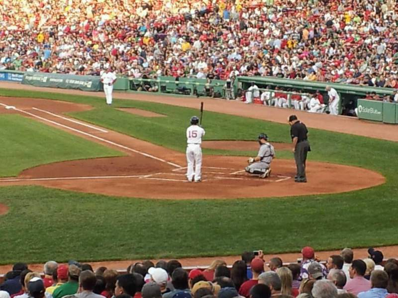Seating view for Fenway Park Section 25-b143 Row hh Seat 3