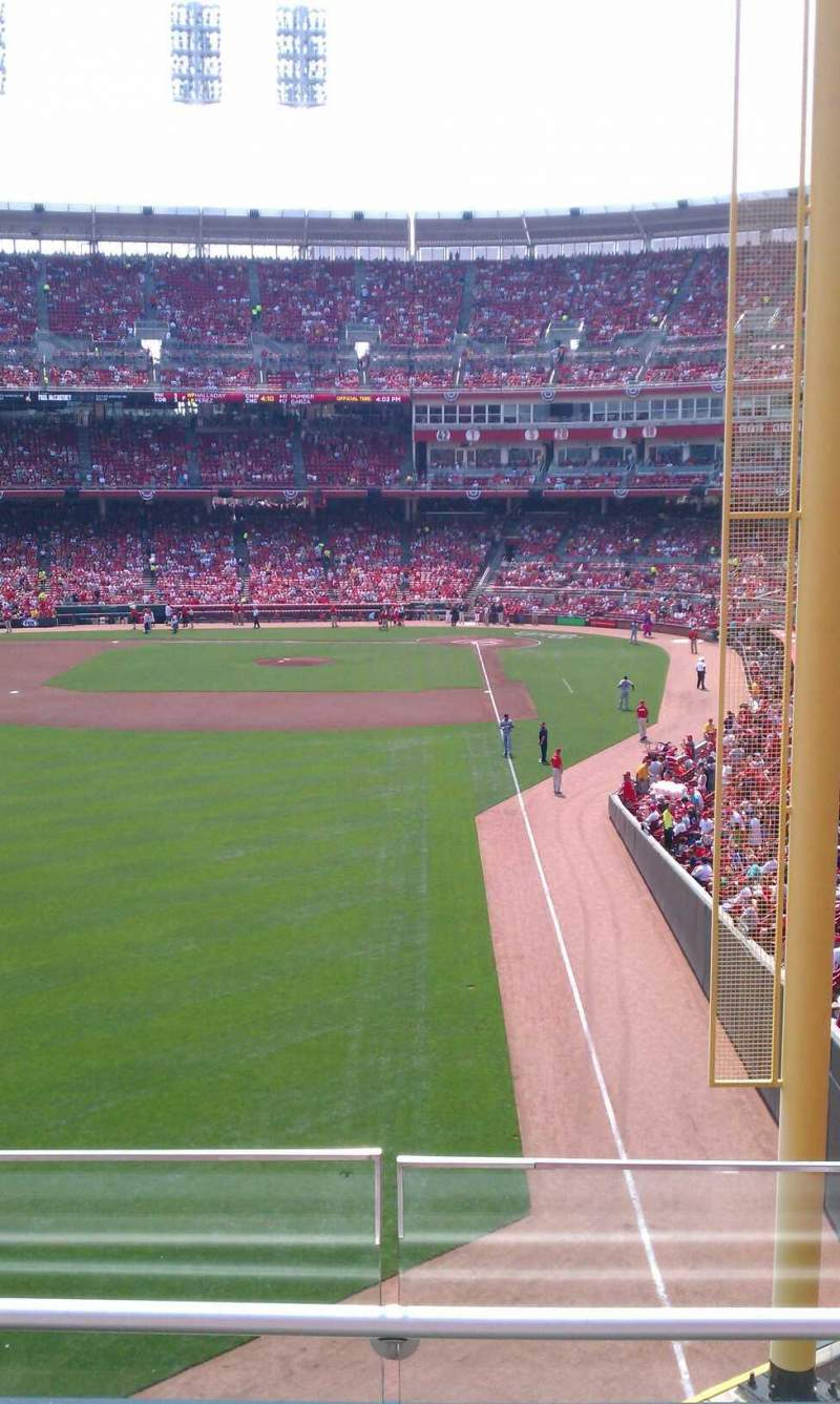 Seating view for Great American Ball Park Section 406 Row C Seat 5, 6