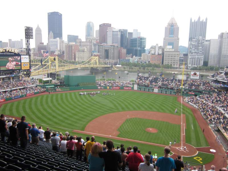 Seating view for PNC Park Section 321 Row Y Seat 1 and 2