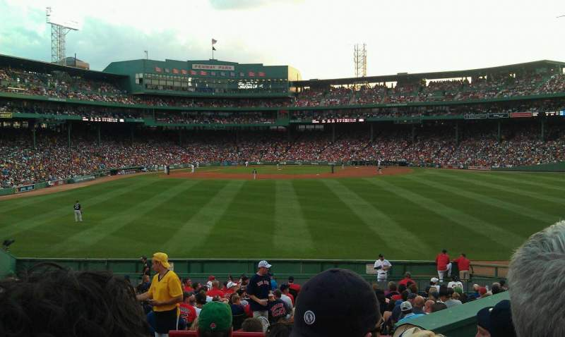 Seating view for Fenway Park Section bleacher 39 Row 24 Seat 5