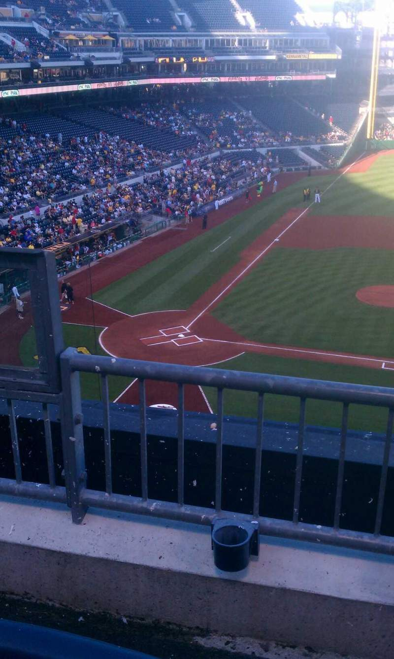 Seating view for PNC Park Section 210 Row b Seat 19