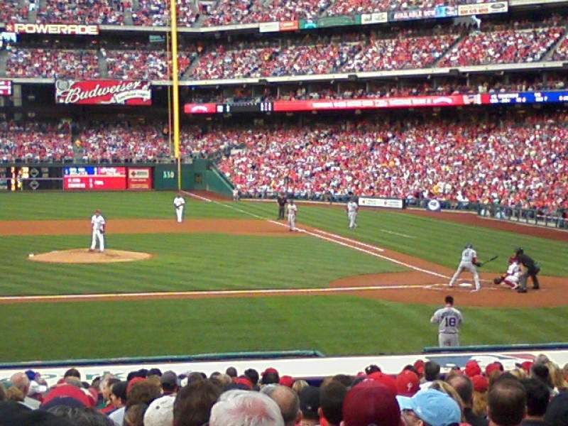 Seating view for Citizens Bank Park Section 132 Row 13 Seat 8