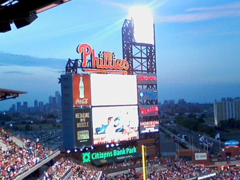 Seating view for Citizens Bank Park Section 433 Row 12 Seat 9