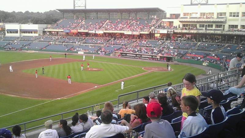 Seating view for NBT Bank Stadium Section 308 Row 9 Seat 21