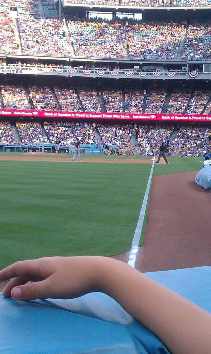 Seating view for Dodger Stadium Section 49fd Row AA Seat 9