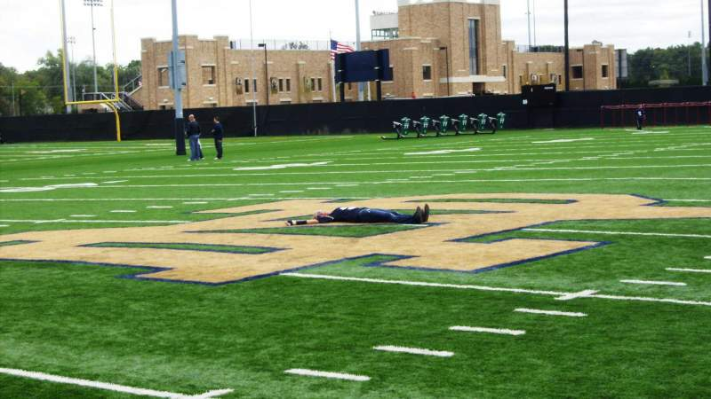 Seating view for Notre Dame Stadium Section Field