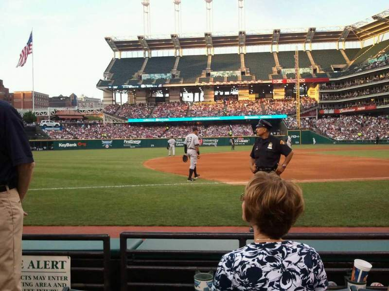 Seating view for Progressive Field Section 167 Row 3 Seat 2