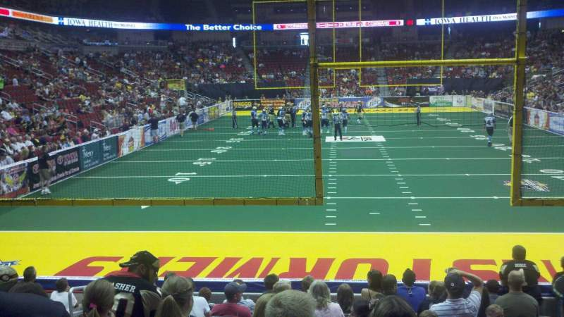 Wells Fargo Arena, section: 110, row: l, seat: 10