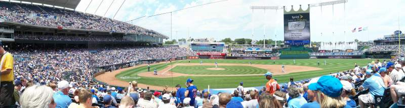 Seating view for Kauffman Stadium Section 132 Row R Seat 5