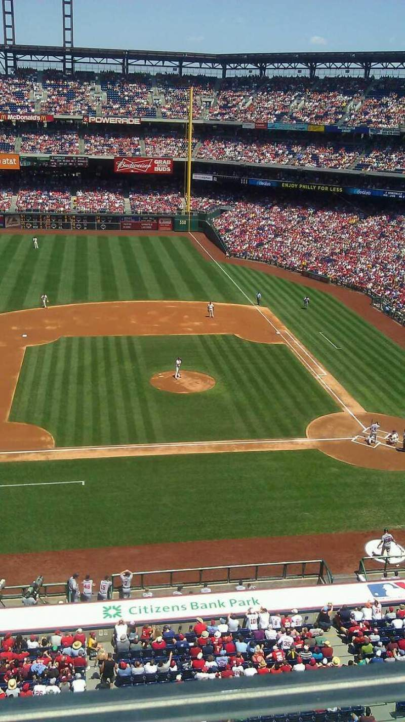Seating view for Citizens Bank Park Section 326 Row 1 Seat 6