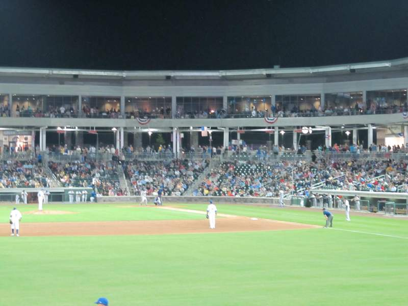Seating view for Palisades Credit Union Park Section 123 Row 3 Seat 5