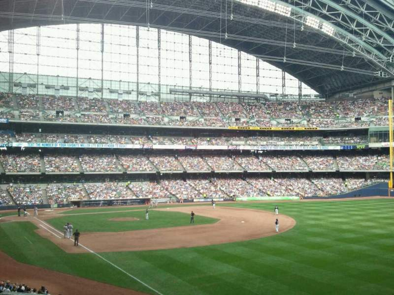 Seating view for Miller Park Section 207
