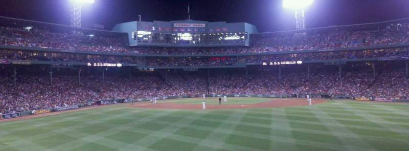 Seating view for Fenway Park Section Bleacher 37 Row 5 Seat 14