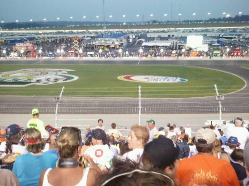 Seating view for Kentucky Speedway Section Grandstand 3K Row 18 Seat 16
