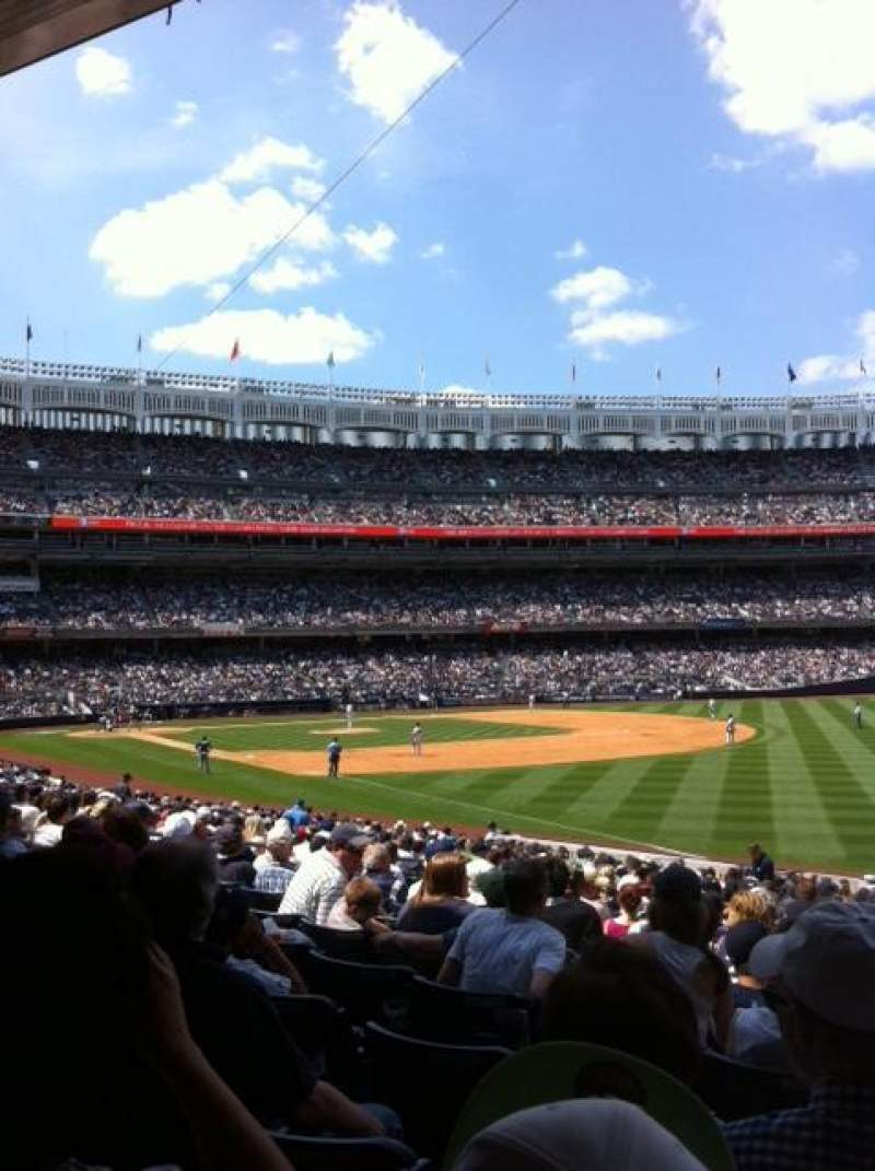 Seating view for Yankee Stadium Section 110 Row 26 Seat 1
