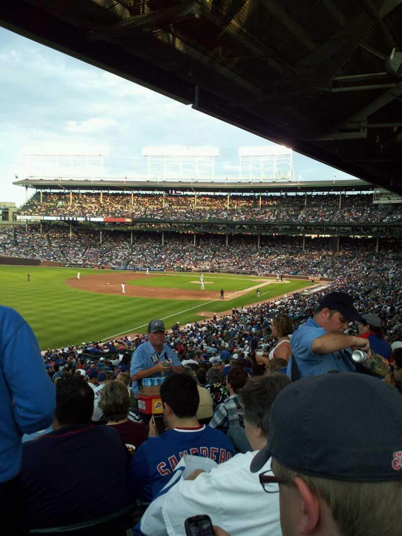 Seating view for Wrigley Field Section 202 Row 22 Seat 101
