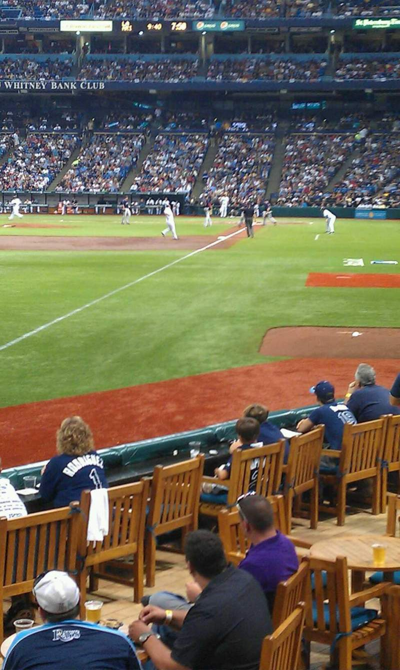 Seating view for Tropicana Field Section 137 Row p Seat 1