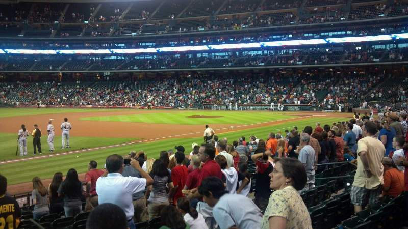 Seating view for Minute Maid Park Section 107 Row 15 Seat 19