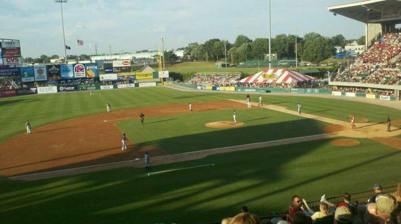 Seating view for McCoy Stadium Section 12 Row II Seat 7