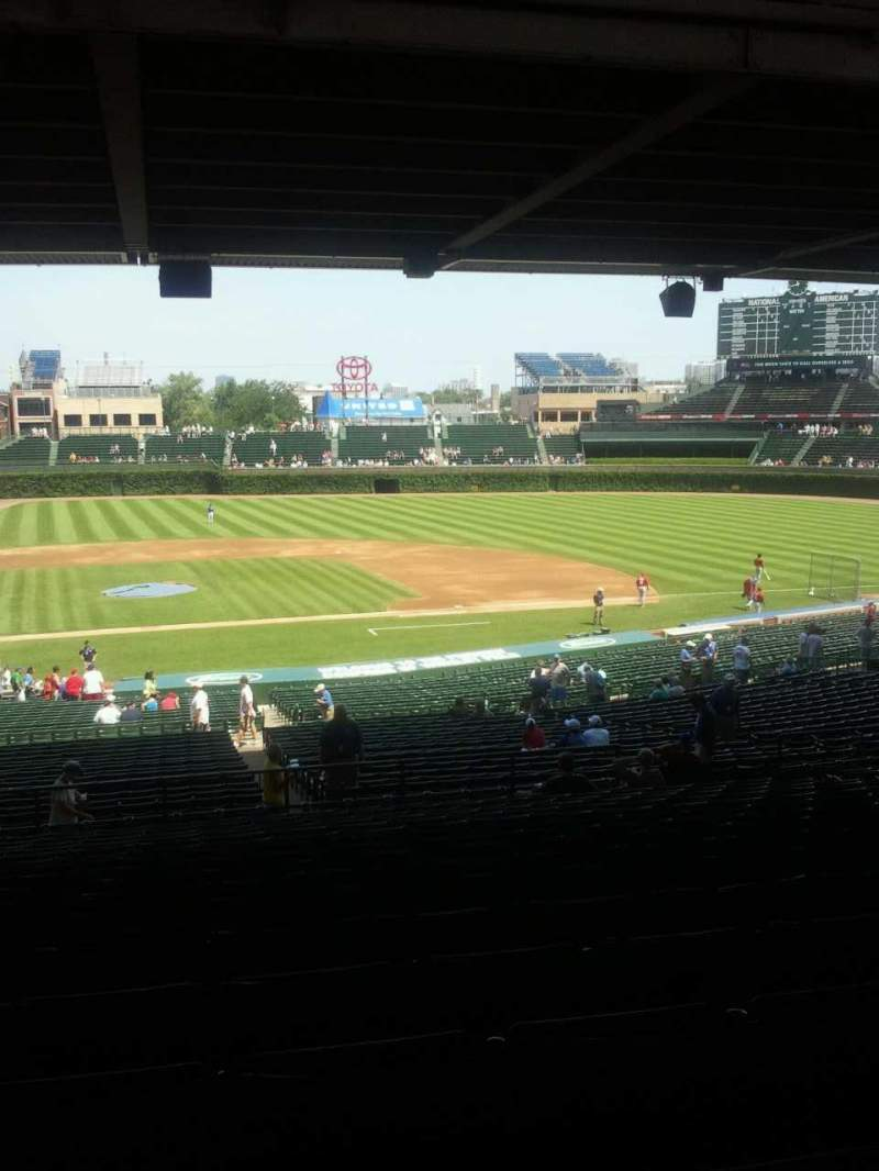Seating view for Wrigley Field Section 222 Row 17 Seat 13