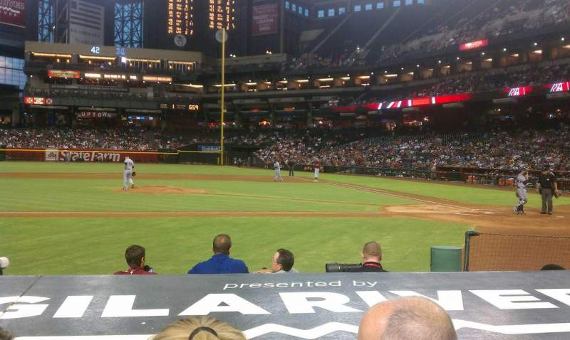 Seating view for Chase Field Section N Row 8 Seat 3