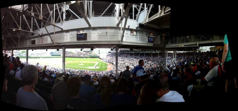 Seating view for Wrigley Field Section 214 Row 20 Seat 21
