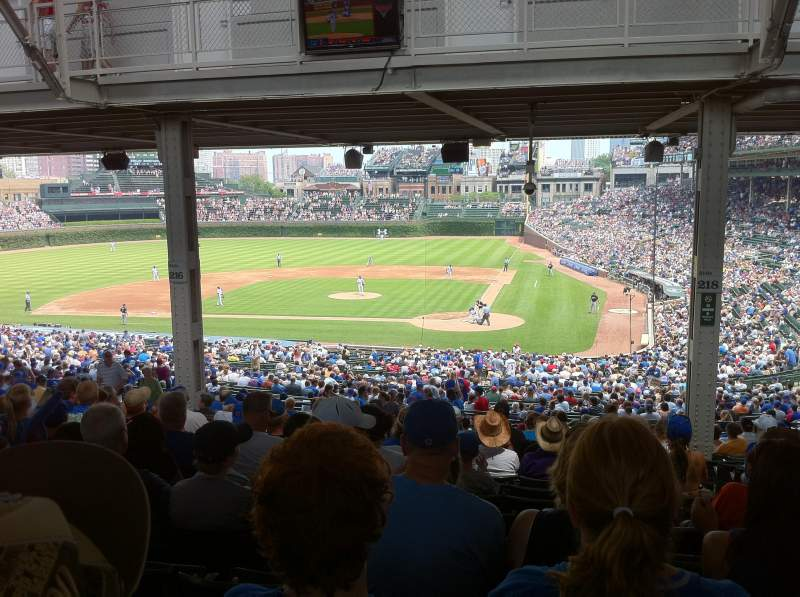 Seating view for Wrigley Field Section 218 Row 20 Seat 103