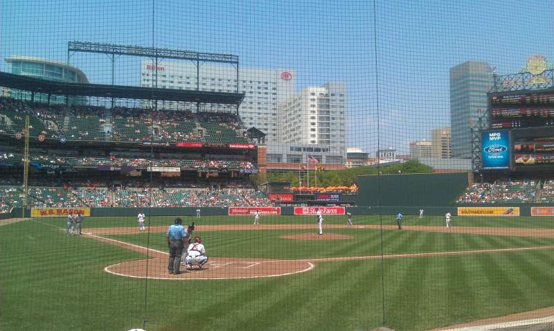 Seating view for Oriole Park at Camden Yards Section 32 Row 5 Seat 7