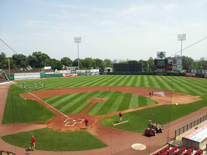 Seating view for Veterans Memorial Stadium (Cedar Rapids) Section 206