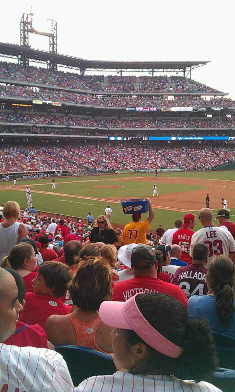 Seating view for Citizens Bank Park Section 112 Row 36 Seat 13