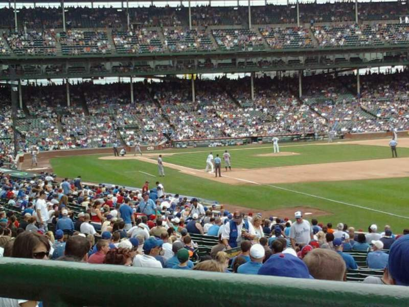 Seating view for Wrigley Field Section 239 Row 1 Seat 6