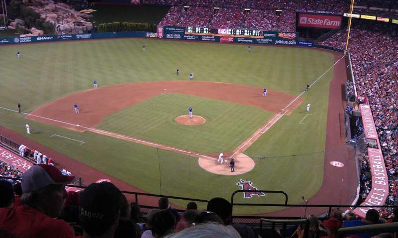 Seating view for Angel Stadium Section V415 Row J Seat 17