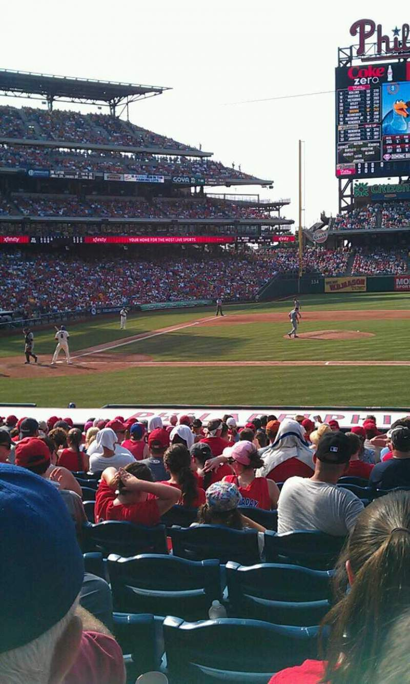 Seating view for Citizens Bank Park Section 117 Row 18 Seat 7