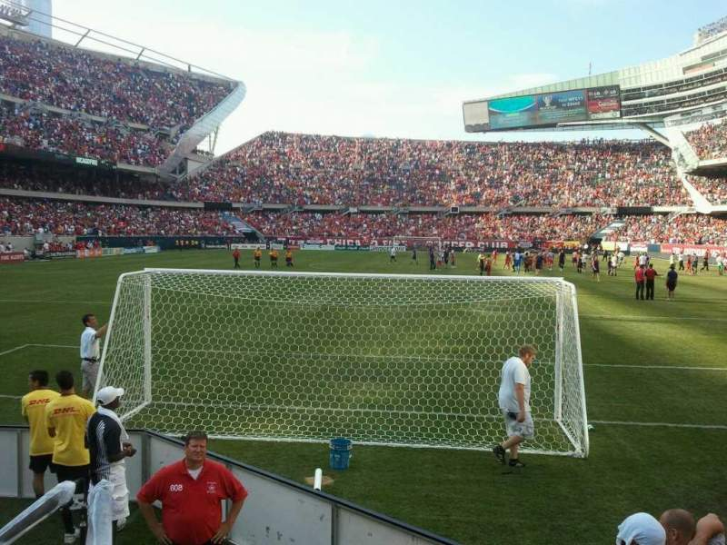 Seating view for Soldier Field Section 122 Row 1 Seat 1
