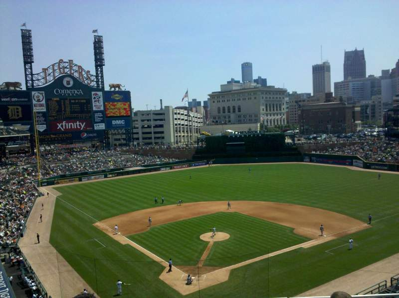 Seating view for Comerica Park Section 326 Row 4 Seat 12