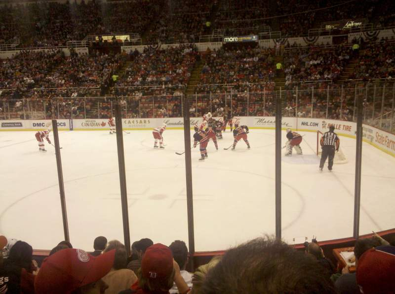 Seating view for Joe Louis Arena Section 119 Row 7 Seat 3
