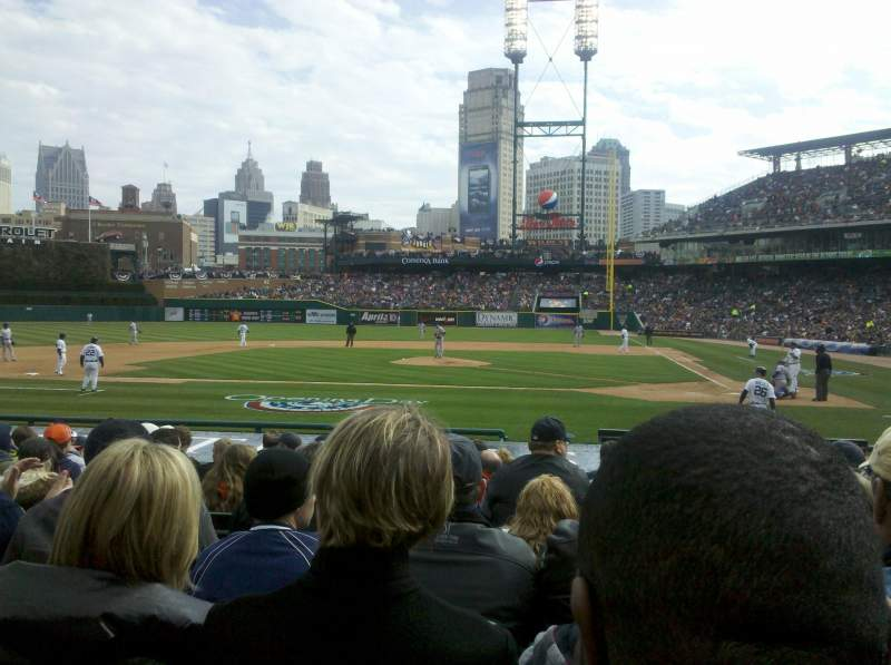 Seating view for Comerica Park Section 137 Row 9 Seat 10