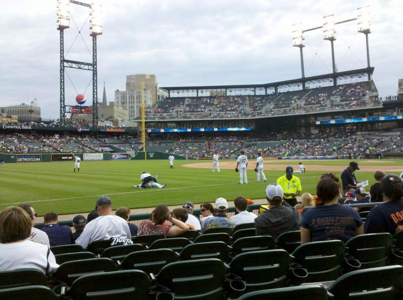 Seating view for Comerica Park Section 139 Row 7 Seat 4