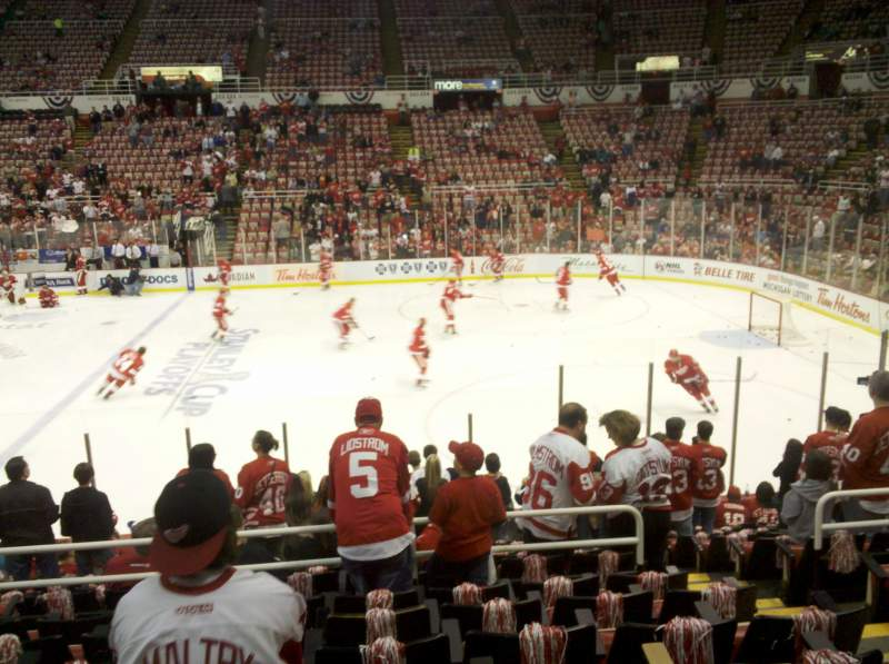 Seating view for Joe Louis Arena Section 106 Row 15 Seat 10
