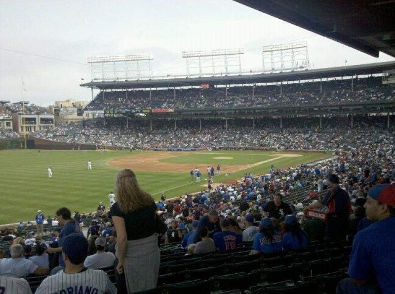 Seating view for Wrigley Field Section 105 Row 15 Seat 5