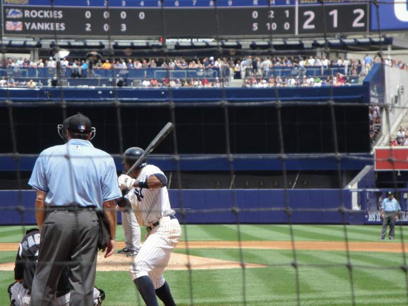 Seating view for Yankee Stadium Section 020 Row 2 Seat 4