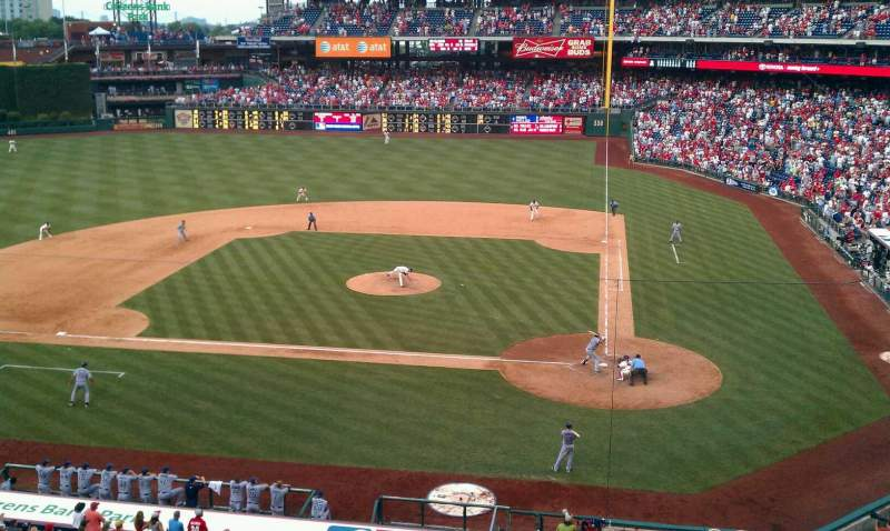 Seating view for Citizens Bank Park Section 226 Row 1 Seat 9