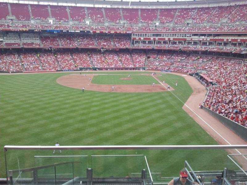 Seating view for Great American Ball Park Section 404 Row K Seat 2