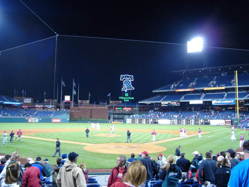Seating view for Citizens Bank Park Section C Row 10 Seat 2