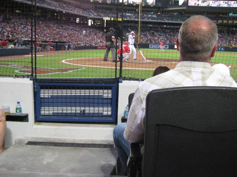 Seating view for Turner Field Section 105R Row 1 Seat 1
