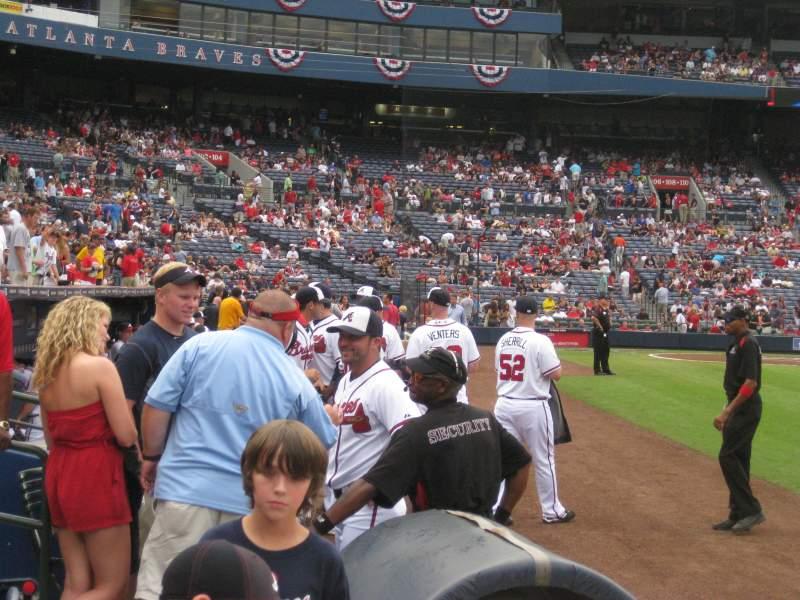 Seating view for Turner Field Section 119L Row 2 Seat 106